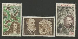 Monaco   #818-20  MNH  (1972)  c.v. $2.20