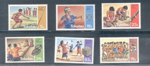 Tokelau Sc 97-102 1983 Traditional Game' stamp set mint NH