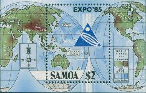 Samoa 1985 SG705 World Fair MS MNH