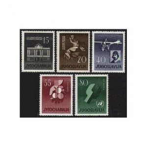 Yugoslavia 585-589,MNH.Michel 930-934. Events 1960:Theaters,Plane,Edward Rusijan