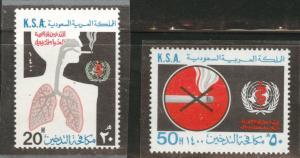 Saudi Arabia K.S.A. Scott 792-793 WHO Anti Smoking set