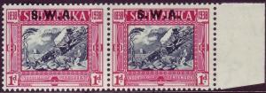 SOUTH WEST AFRICA SG106, 1d + 1d blue & carmine, LH MINT. Cat £24.