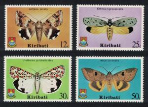 Kiribati Moths Butterflies 4v SG#117-120 SC#356-359