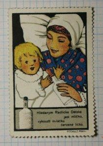 Baby Milk Formula Prague Czech Rep WW Brand Poster Stamp Ad