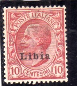 LIBIA 1912 - 1915 SOPRASTAMPATO D'ITALIA ITALY OVERPRINTED CENT. 10c MLH BEN ...