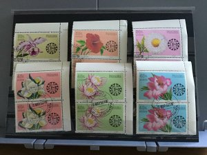 Panama Flowers  cancelled  stamps pairs R25465