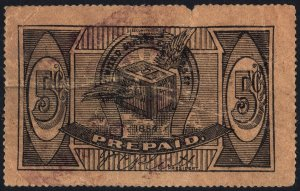 United States Express Company Prepaid Stamp