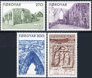 STAMP STATION PERTH Faroe Islands #182-185 Fa177-180 MNH CV$5.70