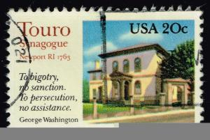US #2017 Touro Synagogue; Used (0.25)