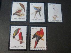 St. Thomas & Prince Islands 1991 Sc 1000-4 Bird set MNH