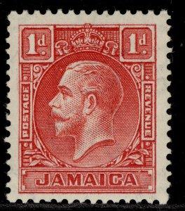 JAMAICA GV SG108, 1d scarlet, M MINT. Cat £16. DIE I