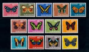 [71519] Surinam Suriname 1972 Insects Butterflies 13 Values MNH