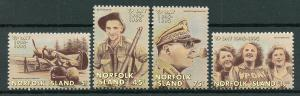 Norfolk Island 1995 MNH WWII WW2 VJ VP Victory Pacific Day 4v Set Stamps