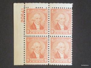#714 Washington Upper Left  Plate Block 20641 F-VF VLH