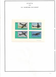 SCOTLAND - STAFFA - 1981 - WWII Aircraft #1 - Imperf 4v Sheet - M L H