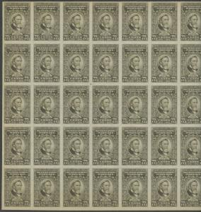 PUERTO RICO #RE49 FULL SHEET/50 77.5¢ RECITIFIED SPIRIT STAMPS BS8901
