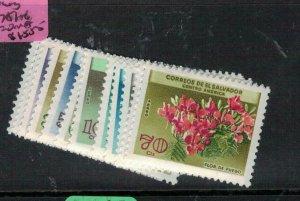 El Salvador Flowers SC 751-6, C215-20 MNH (1evb)