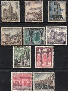 SPAIN 1200-1209, TOURISTIC SITES, SLIGHT FOXING. MINT, NH. F-VF. (480)