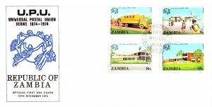 Zambia, Worldwide First Day Cover, U.P.U. Universal Postal Union