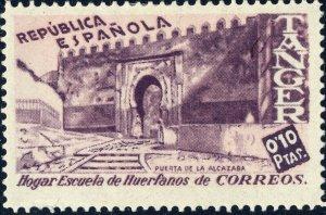 ESPAÑA TANGER / TANGIERS 1930s 0'10Pta Sello Benefico para Huerfanos de Correos