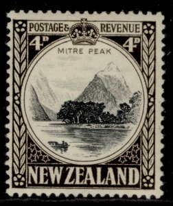 NEW ZEALAND GVI SG583d, 4d black & sepia, M MINT.