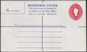 FIJI QE 60c/9c registered envelope fine unused..............................R559