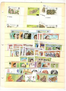TUVALU COLLECTION ON STOCK SHEET, MINT/USED