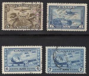 Canada #'s C1, C6, C7, C8, - Used