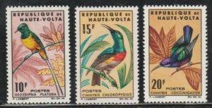 Upper Volta #136-138 MNH Full Set of 3 cv $28.35