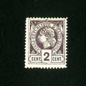 Haiti Stamps # 9 VF OG LH