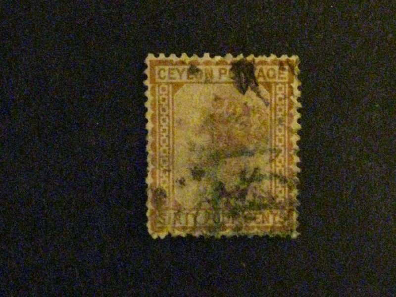 Ceylon #72 used large thin c203 96