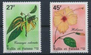 Wallis and Futuna 1996 #478,480 MNH. Flowers