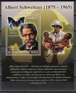 Mali, 2009 issue. Dr. Albert Schweitzer s/sheet. ^