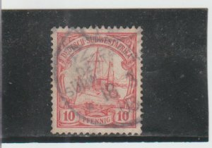 German South West Africa  Scott#  10  Used  (1898 Hohenzollern)