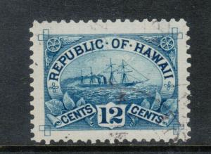 Hawaii #78 Extra Fine Used With Graded 90 Certificate