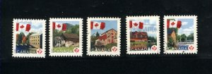 Canada #2351-55  -1  used  VF  2010  PD