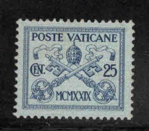 Vatican City Scott 4 MH* 1929 Papal coat of Arms  stamp