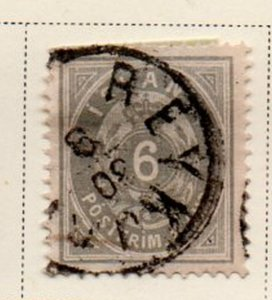 Iceland Sc 10 1876 6 aur gray arms stamp used