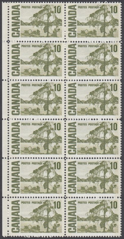 Canada - #462piv -  10c Centennial Issue  - Block of 12 - Unitrade CV.$72 - MNH