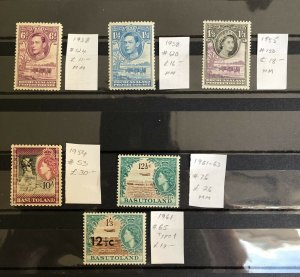 bechuanaland Basutoland Br Commonwealth Selection MM Total Catalogue SG £100 ++