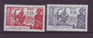 J21987 Jlstamps 1939 st pierre miquelon set mh #205-6 ny worlds fair