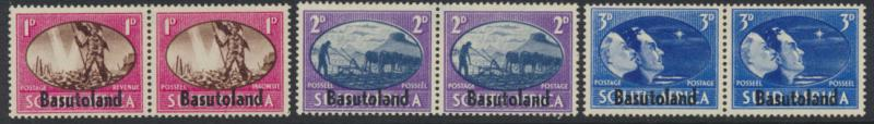 Basutoland SG 29 / 30 / 31 set  Mint Hinged  Pair OPT  - Victory