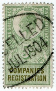 (I.B) Edward VII Revenue : Companies Registration 5/-