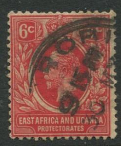 East Africa & Uganda - Scott 42 - KGV Definitive -1912 - Used -Single 6c Stamp