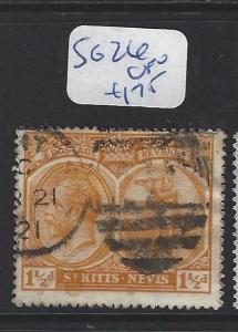 ST KITTS NEVIS  (PP2806B)  KGV 1 1/2D  SG 26  VFU