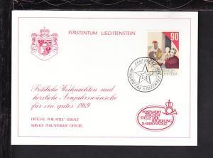Liechtenstein Christmas 1989 Card BIN