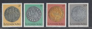 Luxembourg MNH 635-8 14th Century Coins On Stamps
