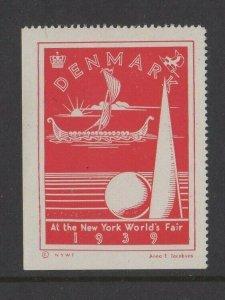 USA - Denmark at the 1939 World's Fair New York MLH
