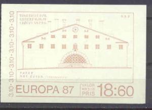 Sweden 1630a MNH booklet Europa CEPT-87