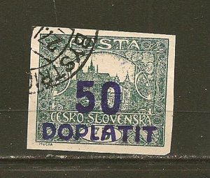 Czechoslovakia J24 Postage Due Imperforated Used